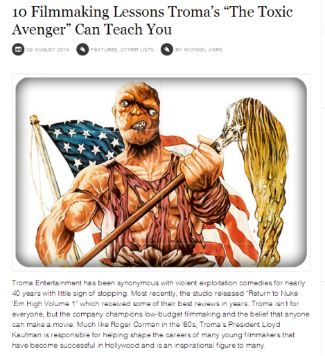 10 Filmmaking Lessons Tromas The Toxic Avenger  Can Teach You