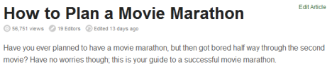 How to Plan a Movie Marathon