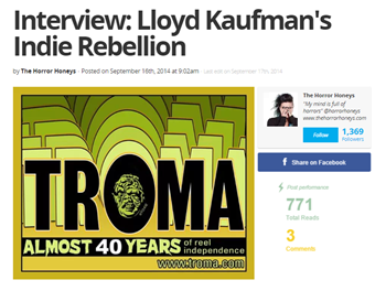 Interview-Lloyd Kaufmans Indie Rebellion